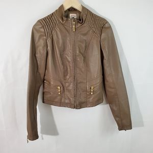 American Culture Brown Full-Zip Leather Jacket
